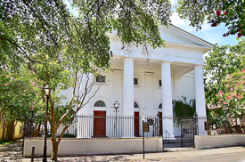 Fun things to do in Charleston : First Baptist Church.