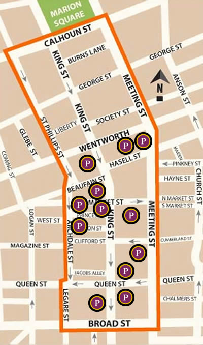 Business District Parking  Map.