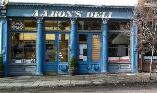 Fun things to do in Charleston : Aaron's Deli in Business District.