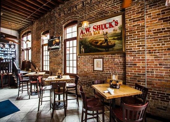 Fun things to do in Charleston : A. W. Shuck's Seafood & Oyster Bar.