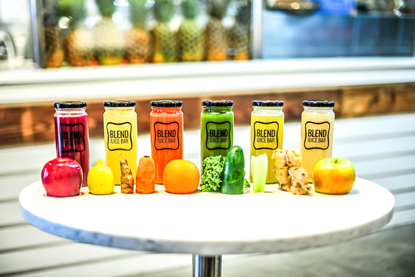 Fun things to do in Charleston : Blend Juice Bar in Mt Pleasant, SC.