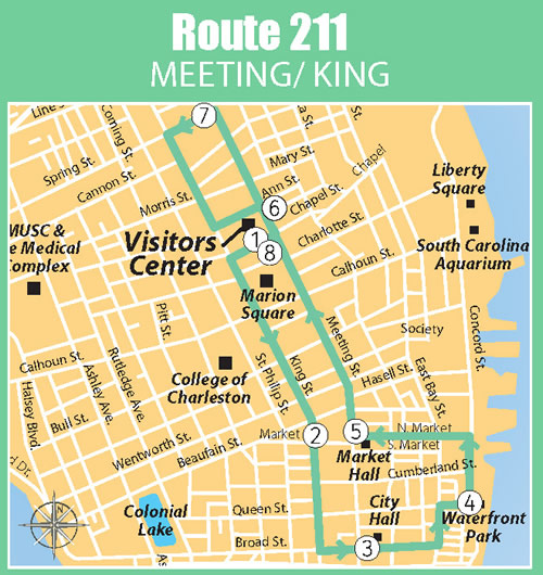 Fun things to do in Charleston : Dash Map Route 211.